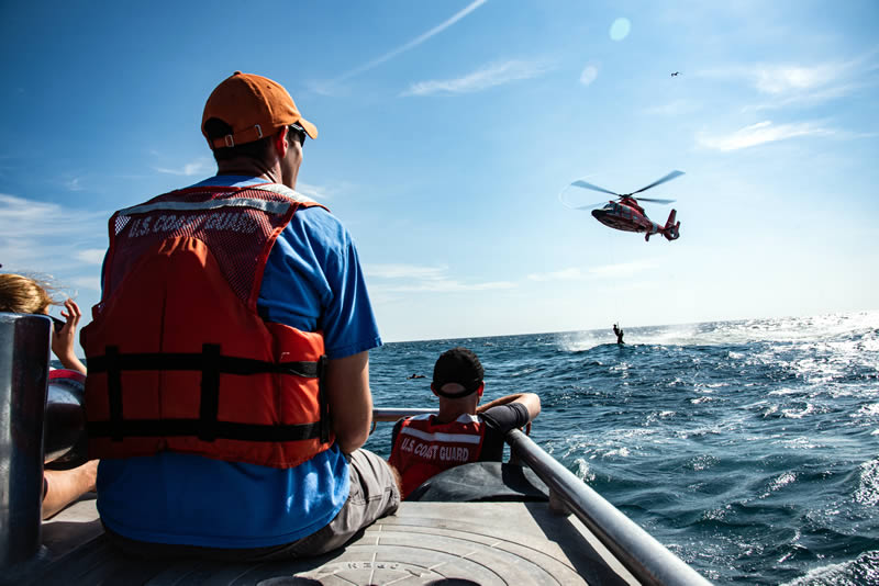 USCG SAR Rescue at Sea