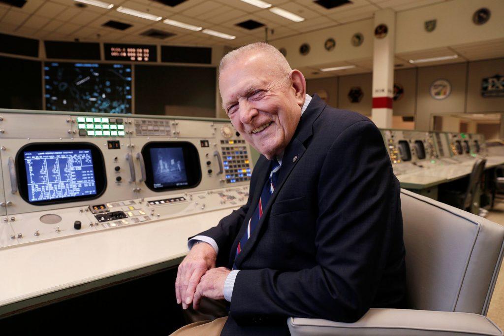 Gene Kranz at Mission Control